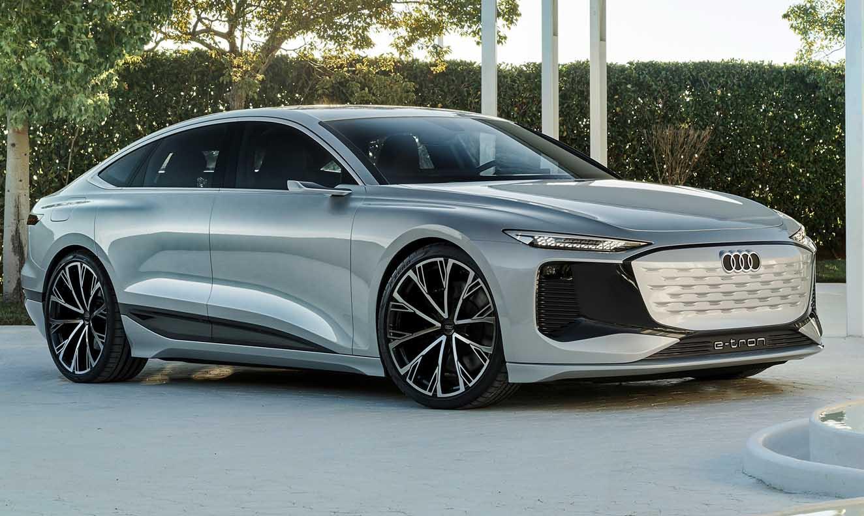 أودي آ6 إي ترون الجديدة كلياً 2021 – من أجمل وأكثر السيارات الكهربائية فخامة
