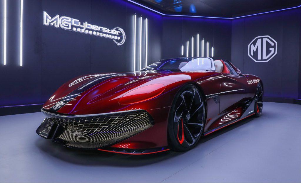 إم جي سيارة Cyberster النموذجية الكهربائية
